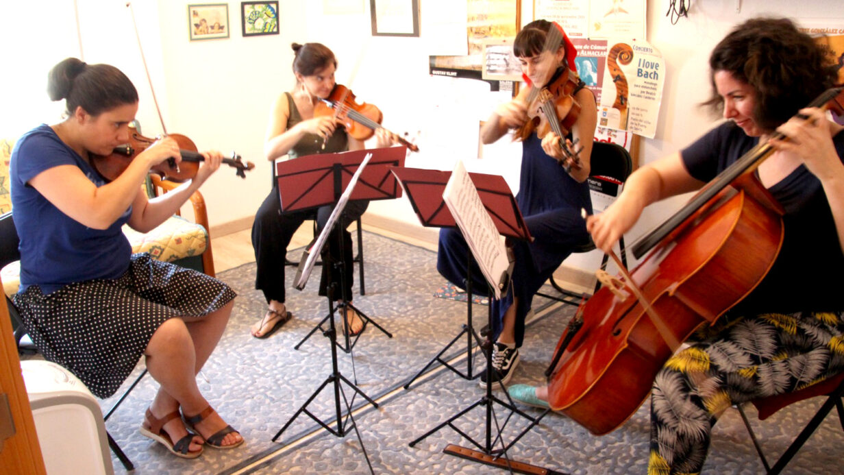 Ensayo del Cuarteto de Cuerda Almaclara·Inés Rosales