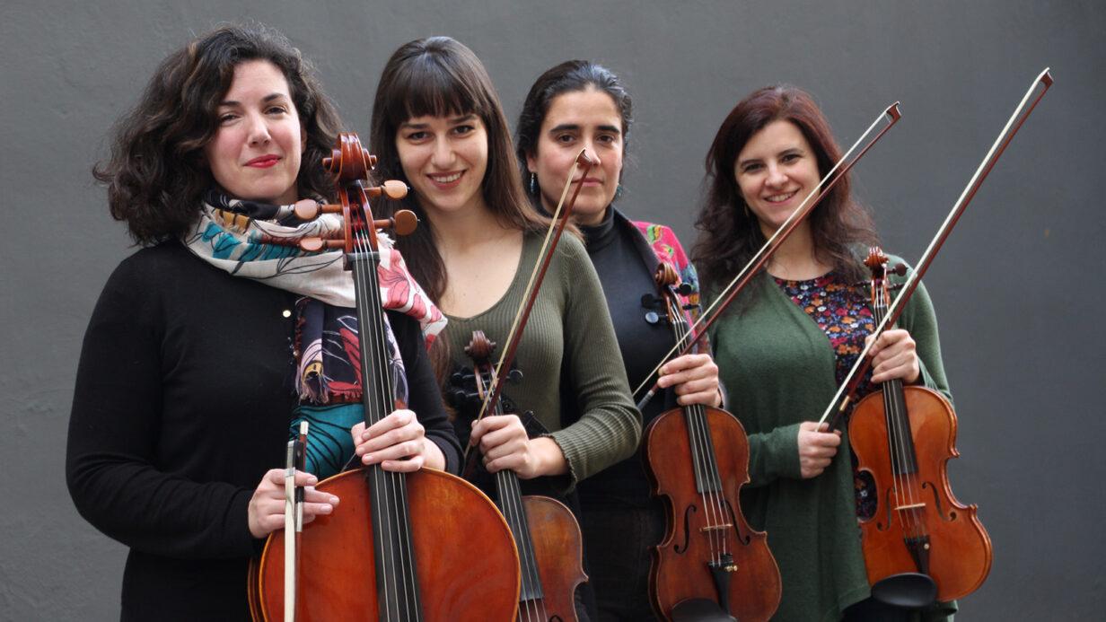 Integrantes del Cuarteto de Cuerdas Almaclara·Inés Rosales.
