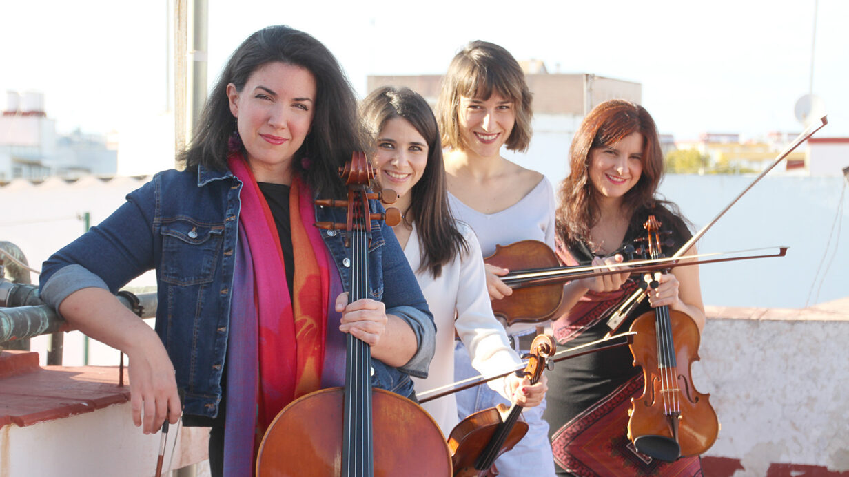 Las integrantes del cuarteto Almaclara·Inés Rosales, Beatriz González Calderón, Inés Montero, Míriam Gallardo e Irene Fernández.